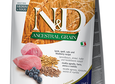 Farmina - Ancestral Grain - LAMB & BLUEBERRY - Adult - Med&Max
