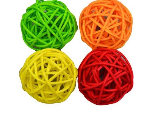 Woven Rattan Ball | 4 Pack