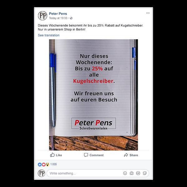 peter pens post ohne rechtschreibfehler.