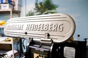 Original Heidelberg for die cutting, embossing, debossing and more.
