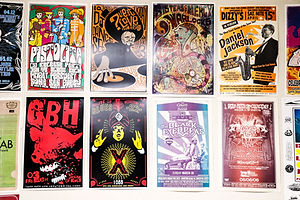 Just some of the posters printed over the last 20 years of PrintWorks' operations.
