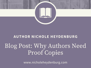 Why Authors Need Proof Copies