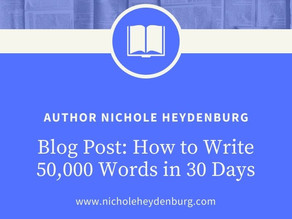 How to Write 50,000 Words in 30 Days