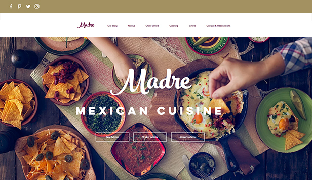 Catering och kock website templates – Mexikansk restaurang