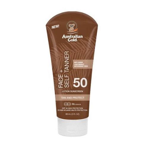 Australian Gold Face & Self tanner SPF 50 88ML