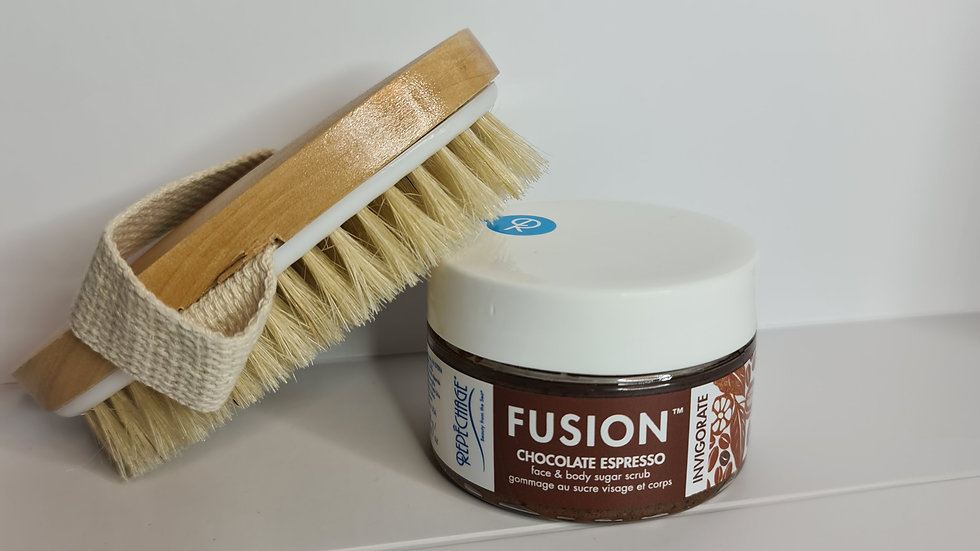 Fusion face and body scrub. Gift with purchase.