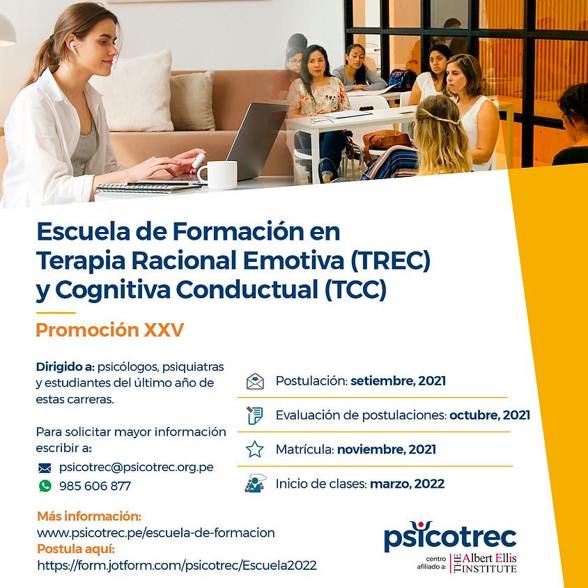 Escuela de Formación en  Terapia Racional Emotiva (TREC) y Cognitiva Conductual (TCC)