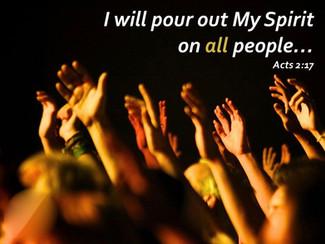 Derramaré de mi Espíritu