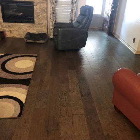 Engineered Wood Floor HickoryLiving Room