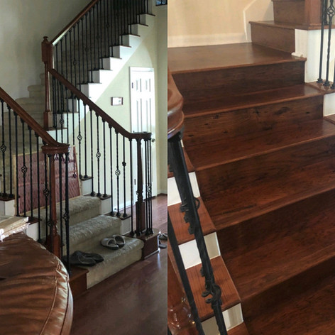 stair way before and after