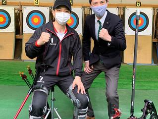 〜パラアーチェリー、五輪代表に宮本さんが内定!〜   台東区代表としても応援しています。
