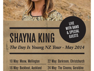 Shayna King Announces 'The Day Is Young' New Zealand Tour - May 2014