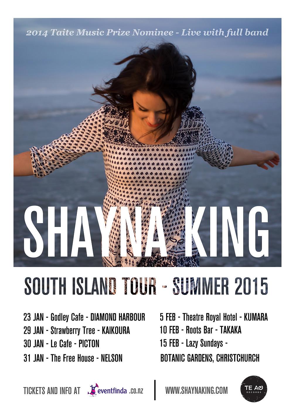Shayna King Summer tour poster 2015.jpg