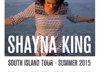 Shayna King announces South Island Summer Tour