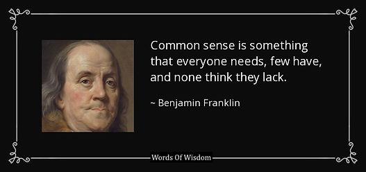 AZ Quote Ben Franklin -common-sense-is-s