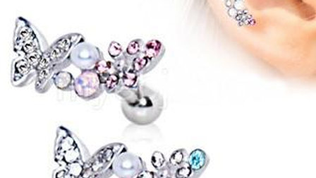 Art of Brilliance Branched Butterfly Cartilage Earring