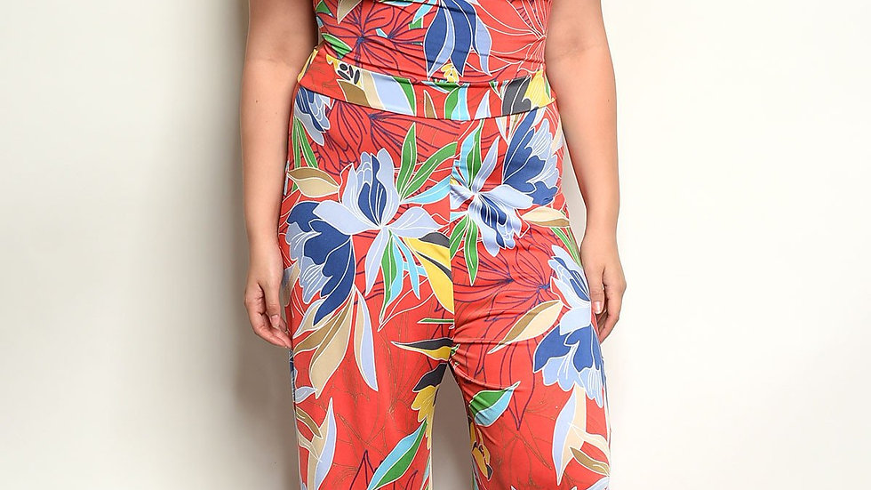 Multi Color Plus Size Jumpsuit