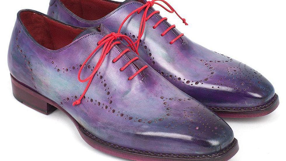 Paul Parkman Men's Wingtip Oxfords Goodyear Welted Purple (ID#87PRP11)