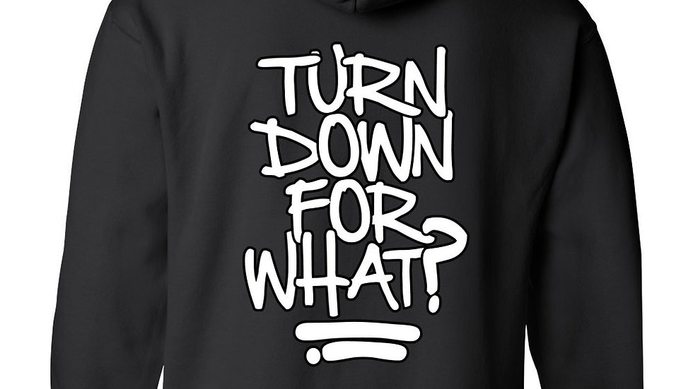 Men's/Unisex Pullover Hoodie Funny Hilarious Turn Down for What?
