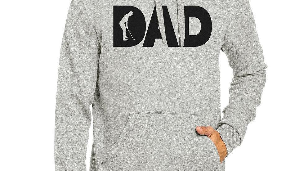 Dad Golf Unisex Grey Hoodie Funny Design Hoodie