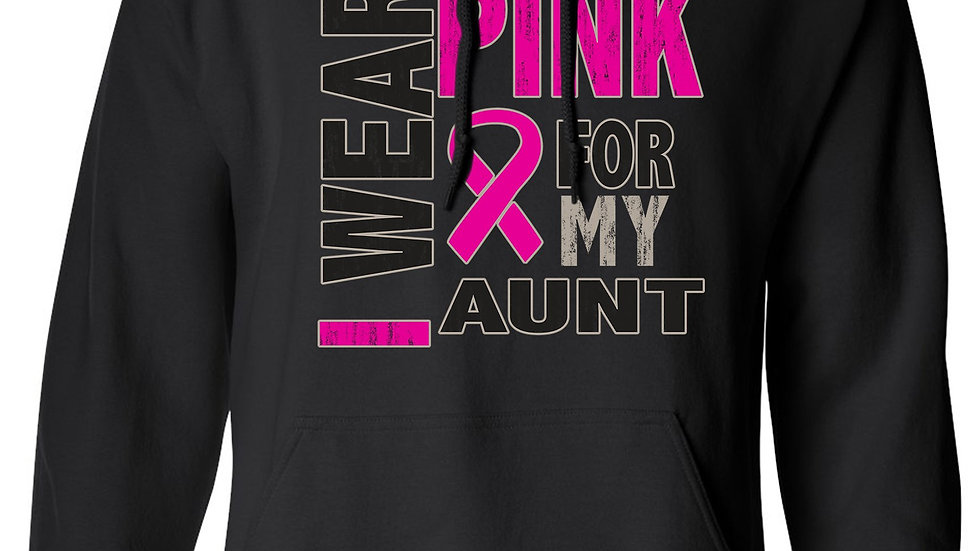 Unisex Pullover Hoodie Breast Cancer Awareness I Wear Pink for My Aunt