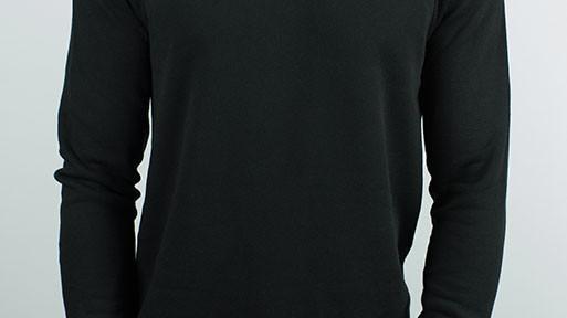 The Night Bay Raglan Sweater in Black