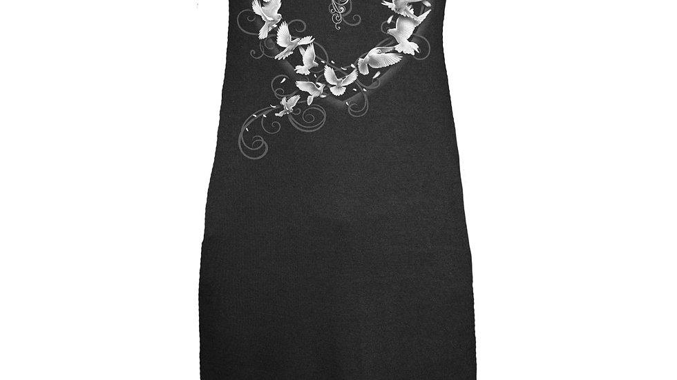 DOVES HEART - Ribbon Back Dress Black