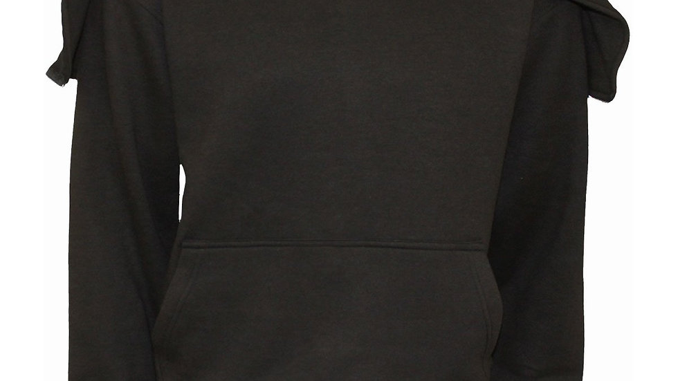 METAL STREETWEAR - Split Zip Hoody Black
