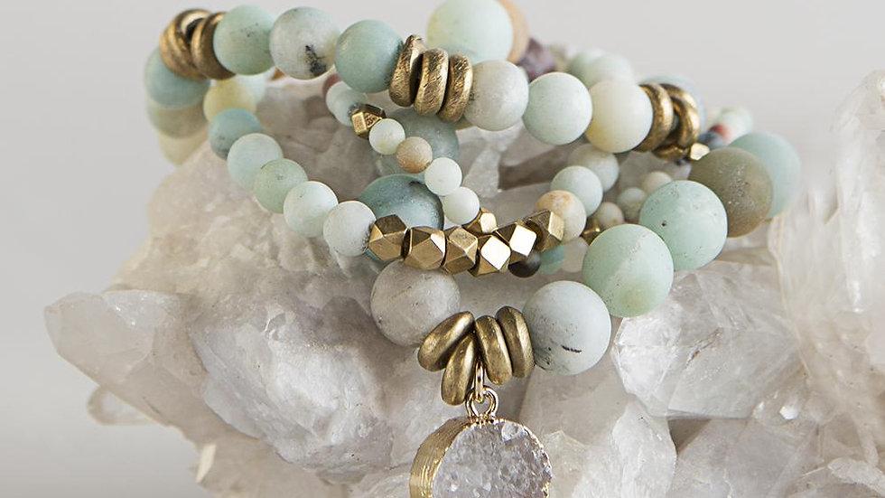 Amazonite Gemstone Bracelets