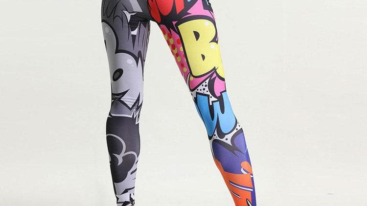 Cartoon 3D  high waist yoga pants