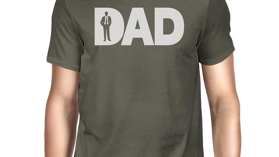 Dad Business Mens Dark Grey Graphic Top Funny Working Dad Design