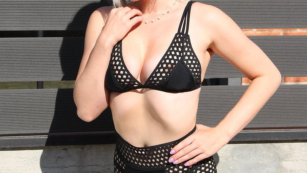Veria High-Rise Two-Piece Bikini - Black