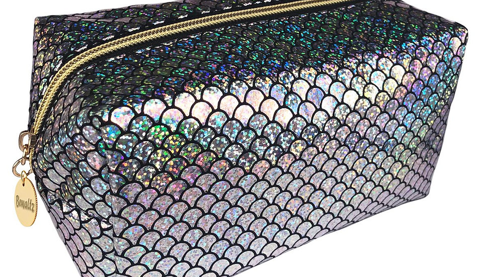 Mermaid Makeup Bag Silver