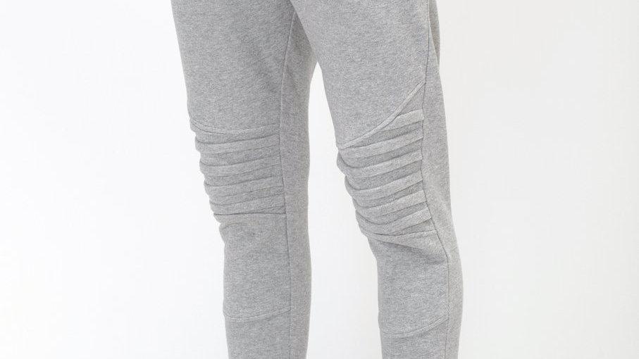 Konus Men's Biker Style Joggers in Grey