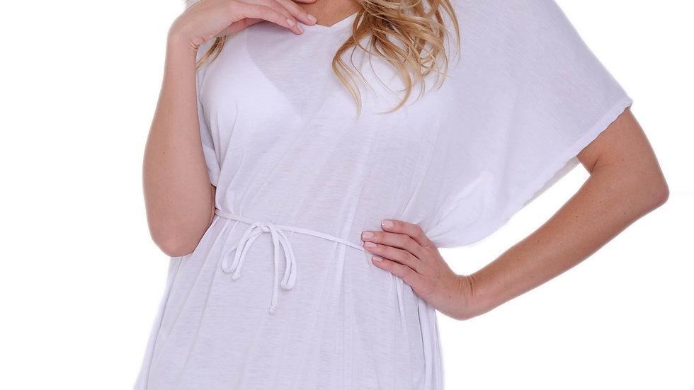 Women's Tie Waist Tunic Swimwear Cover-up Beach Dress Made in the USA