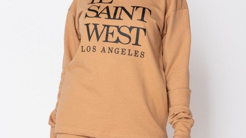 Ye Saint West Camel  Jogger Set