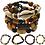 Thumbnail: 4 Pcs Bracelets for Men Women Wooden Beaded Bracelets