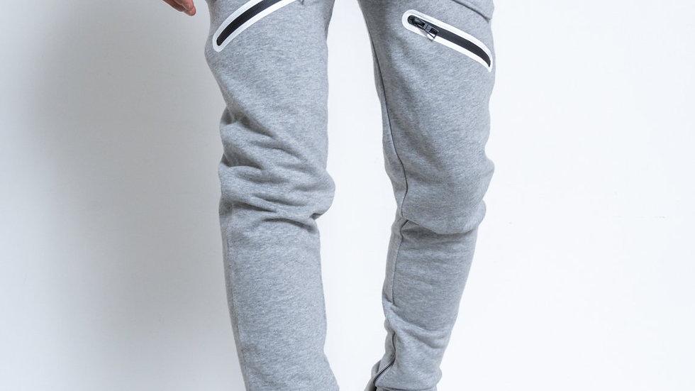 Konus Men's Heather Grey French Terry Sweatpants w/ Zipper Pockets