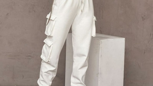High Waisted Solid Color Casual Joggers
