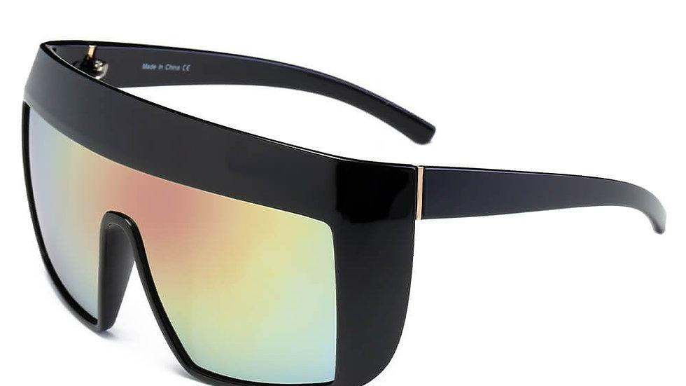 FOLSOM | S2043 - Women Oversize Shield Sunglasses