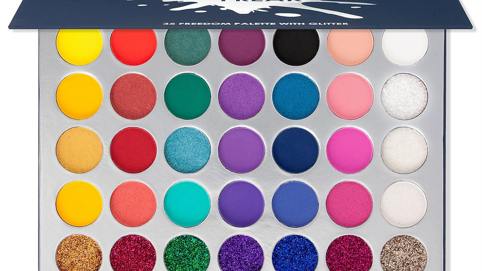 Makeup Freak  35 Color Pigmented Eyeshadow Palette With Glitter