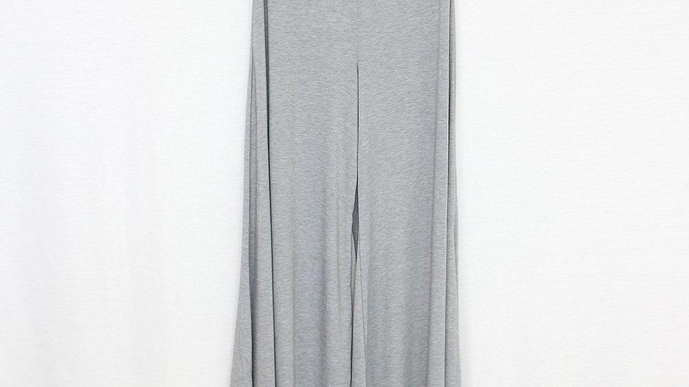 Elastic Waist Wide Leg Pants Grey