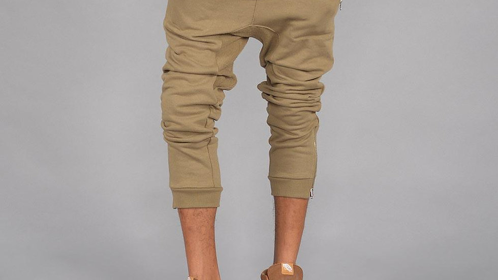 Lux Knit Jogger Pants W/ Zipper Pocket (Hemp)