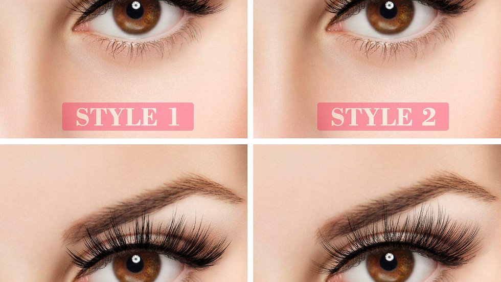 MAANGE Soft 20 Pairs Reusable 3D Faux Mink Lashes Handmade Mixed 4 Styles Natur