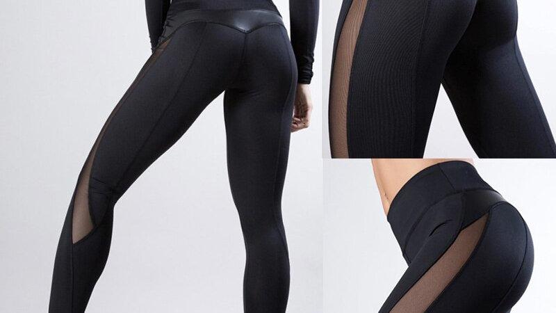 2020 Women Sexy Mesh Pants Push Up Fitness Gym Leggins