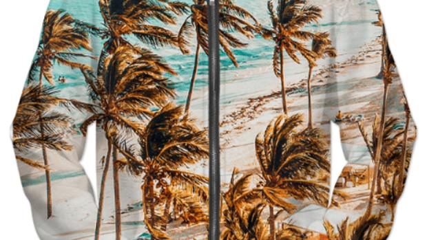Beach UNISEX ZIP HOODIE