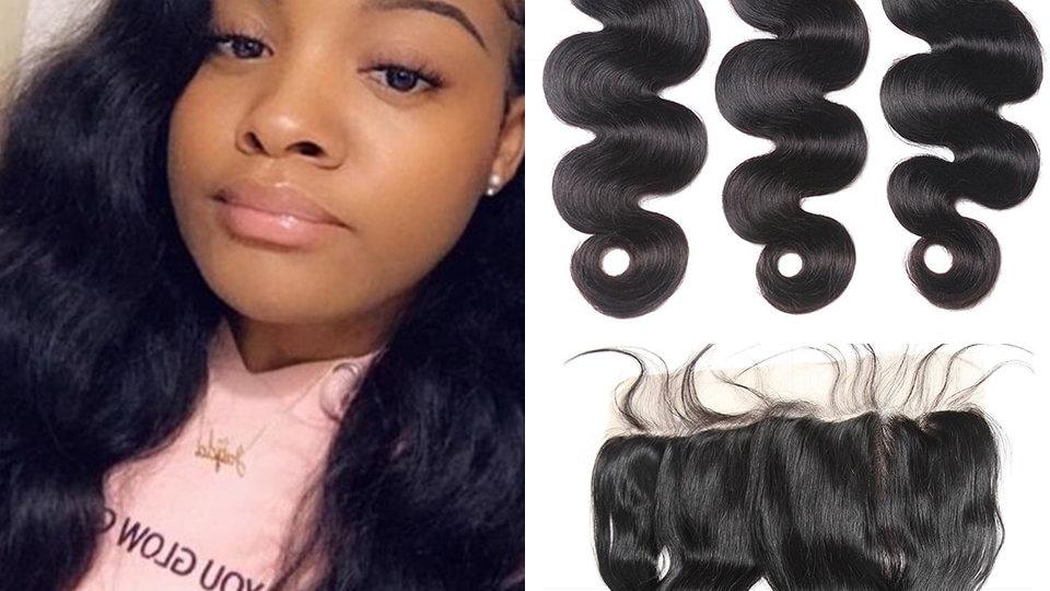 Dejavu Body Wave With Closure Brazilian Hair Frontal Human Hair Non-Remy Hair