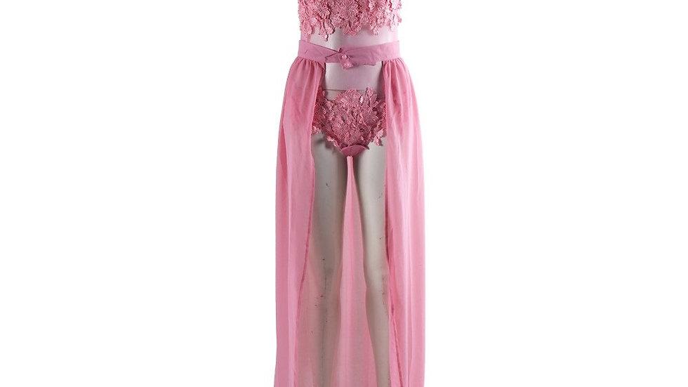 Sexy Pink Playsuit Dress