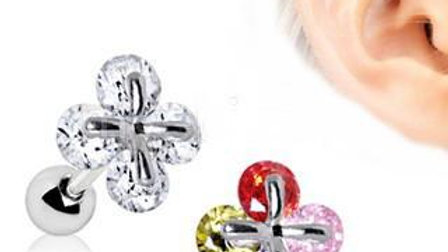 Art of Brilliance Adorned Quatrefoil Cartilage Earring