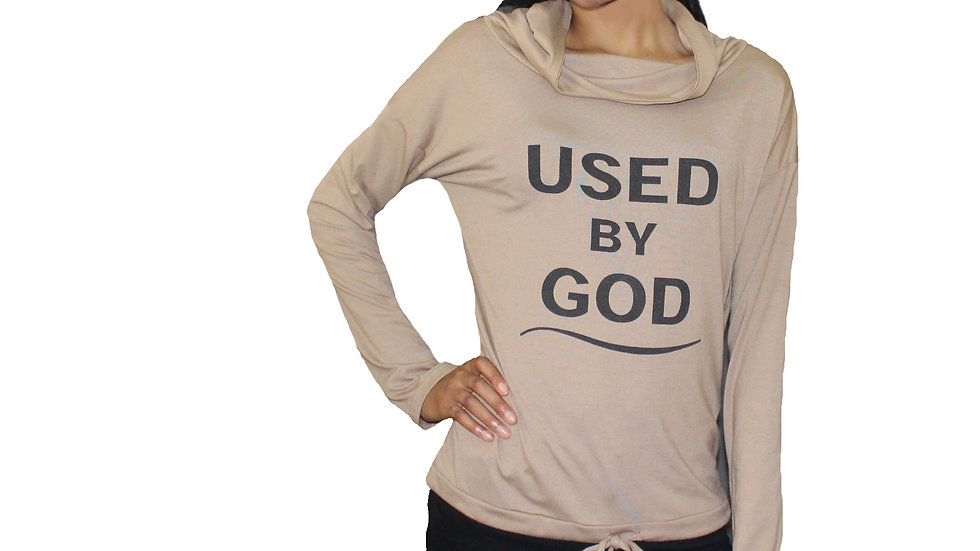 Women's Used By God Cowl Neck Hoodie  - TWO For $35.99